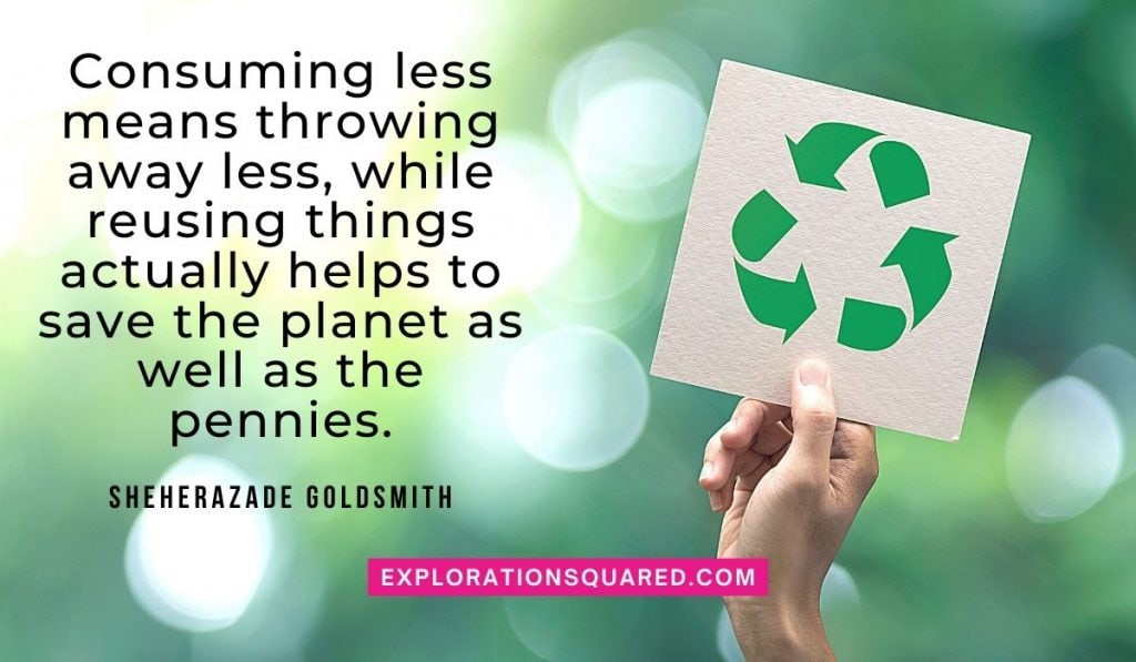 Consuming less means throwing away less