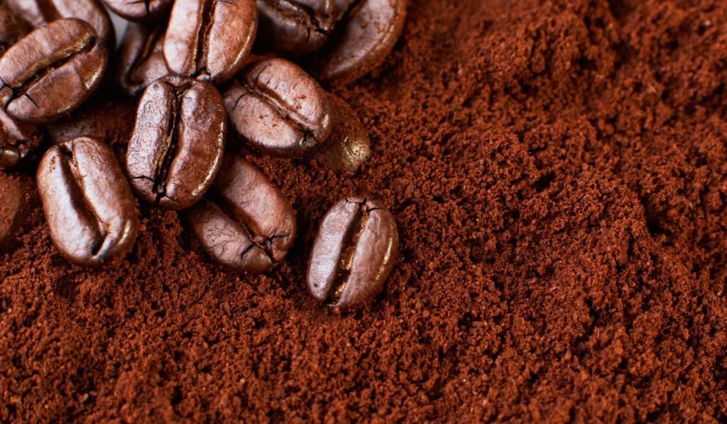 coffee beans on a coffee ground