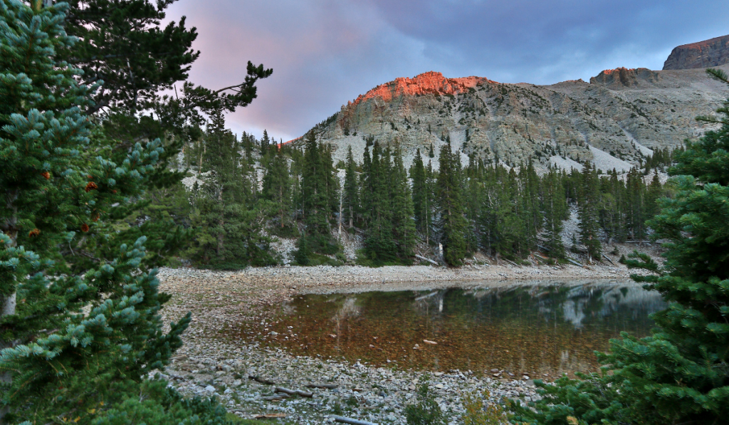 A beautiful lake located inside the Great Basin National Park.