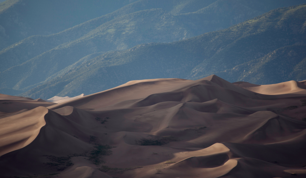 A magnificent view of sand dunes at Colorado